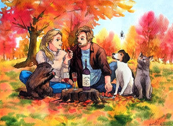 Commission: Autumn Picnic
