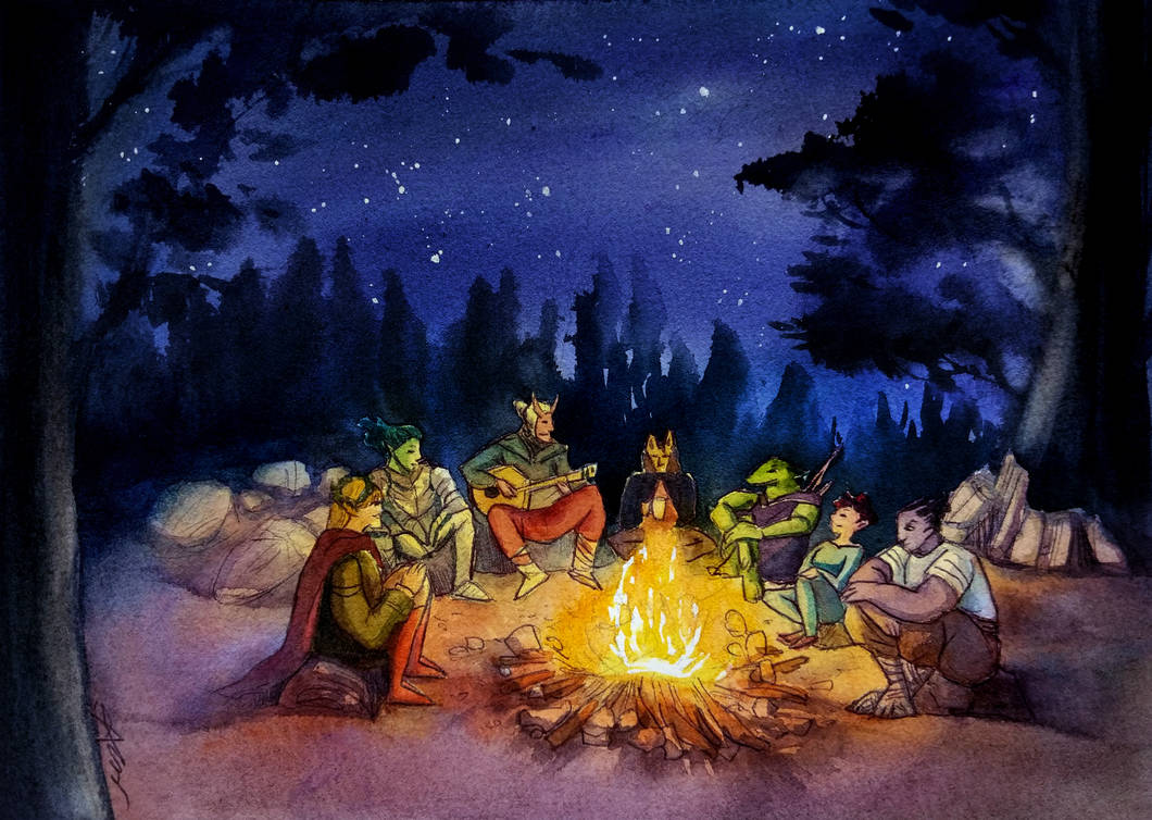 Commission: Campfire Confessions