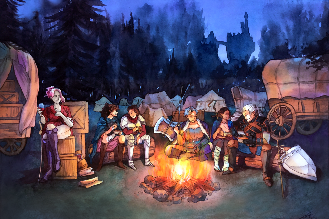 Commission: Campsite Meal (DnD)
