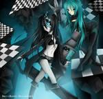 Black Rock Shooter and Miku