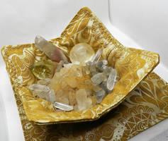 Gold Fabric Crystal / Keepsake Bowl by HappyHermitSoap