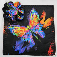 Butterfly Coaster with Fabric Flower and Button by HappyHermitSoap