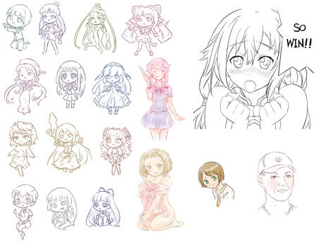 Waifu and other sketch 7