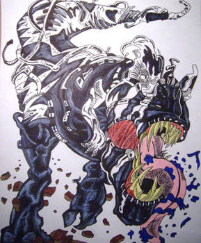 Tyrannosaurus Rex Venom(Old Man Logan Comics)