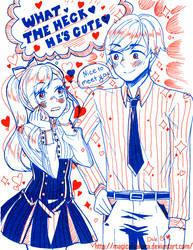 2 Color Mini Comic Print by MagicalSakura
