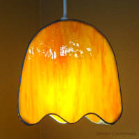 Clyde - PacMan Ghost - Stained Glass Lamp