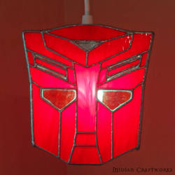 Autobots - Transformers - Stained Glass Lamp