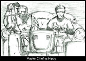Master Chief VS Hippo by Liquid-Skin