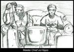 Master Chief VS Hippo