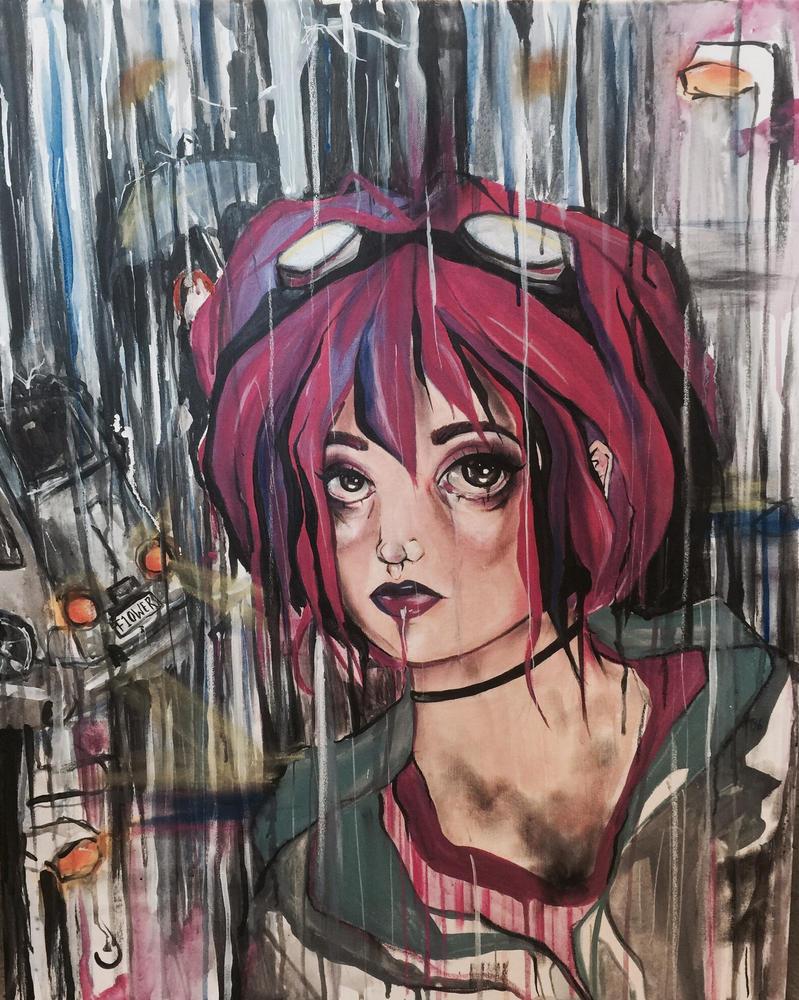 Ramona in the Rain by Applemasher