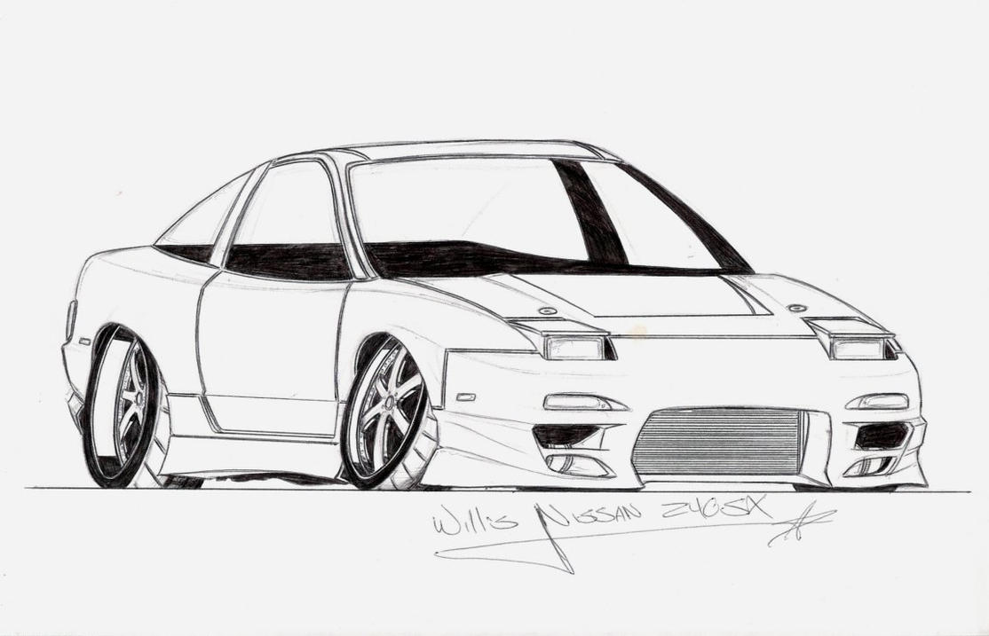 nissan silvia coloring pages