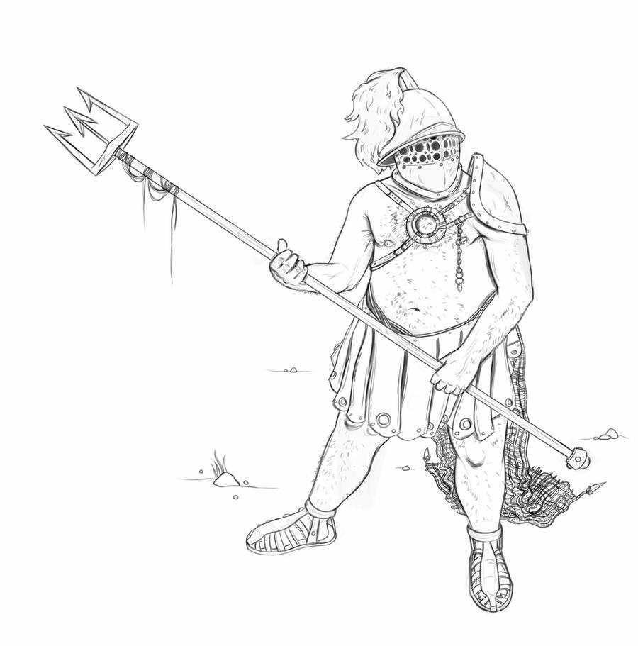Gladiator Drawing Gladiator-02 by