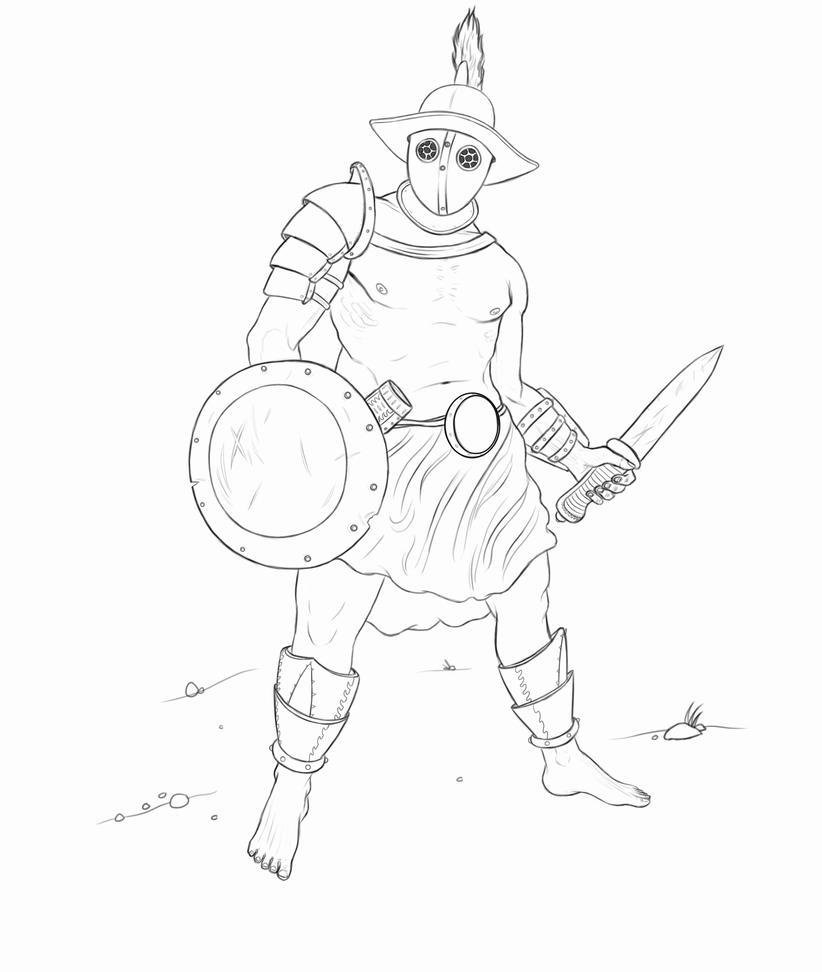 Gladiator Drawing Gladiator-03