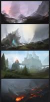 environment sketches - color