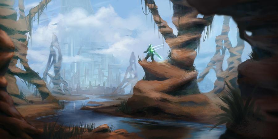 desert - sci fi environment by SebastianWagner