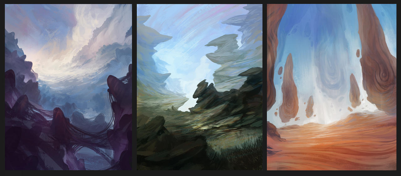 3 environment sketches by SebastianWagner