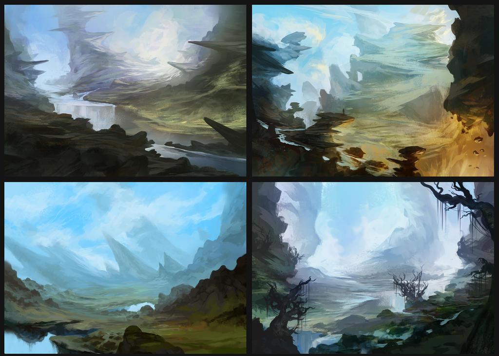 4 environments by SebastianWagner