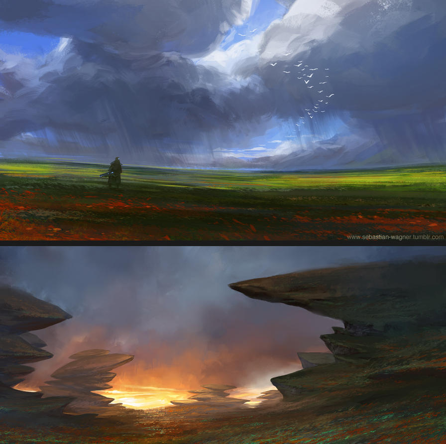 two landscapes by SebastianWagner