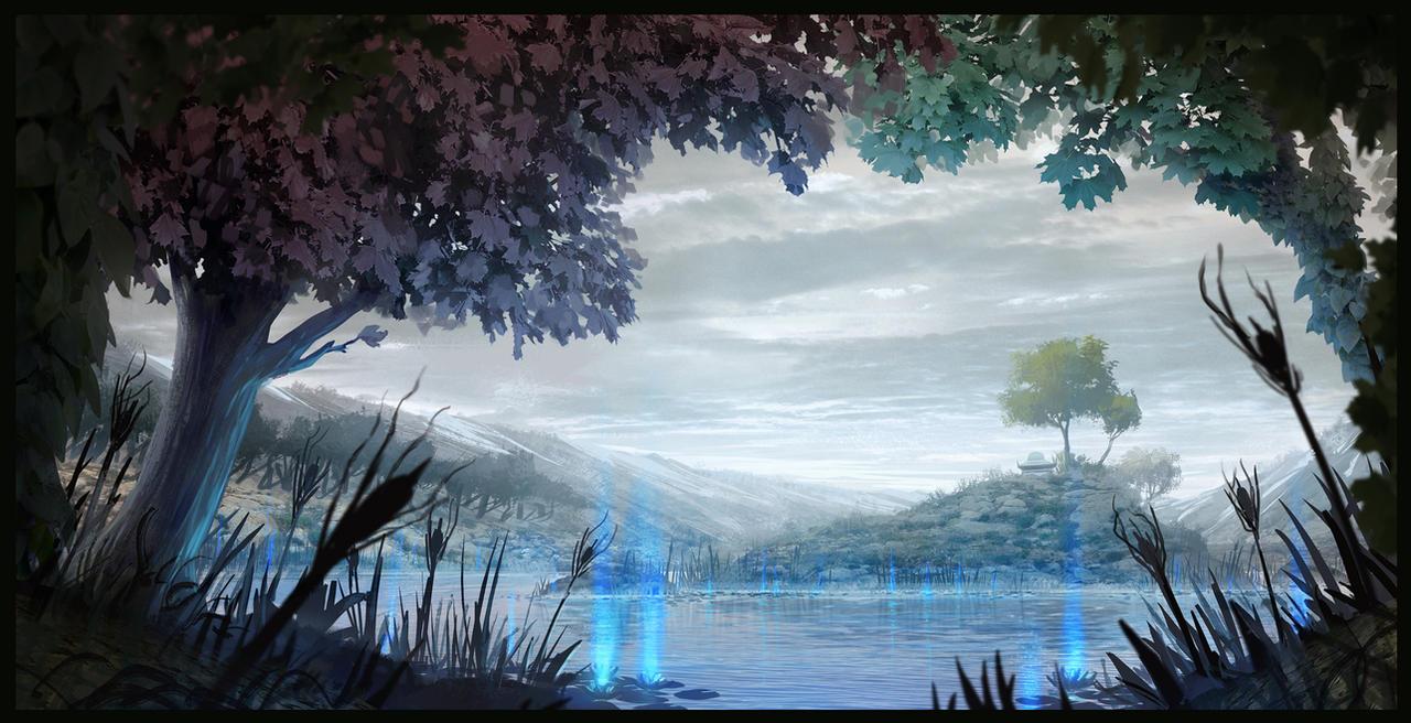 Mysterious Lake - Kiriban by SebastianWagner