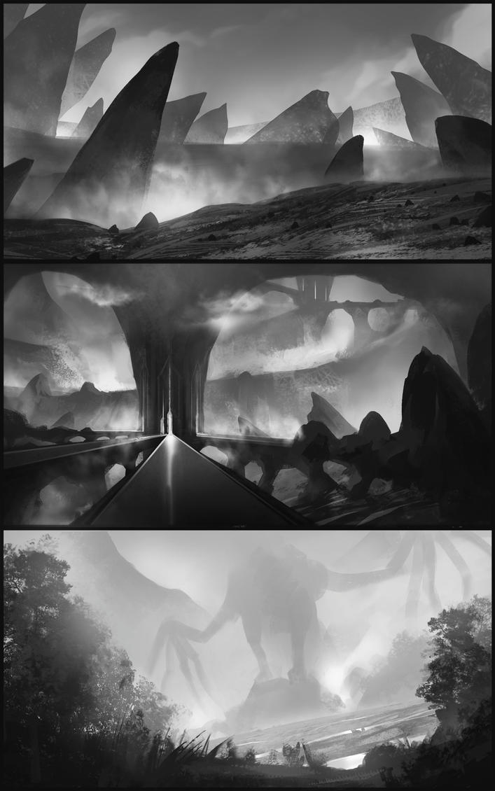 landscape sketches by SebastianWagner