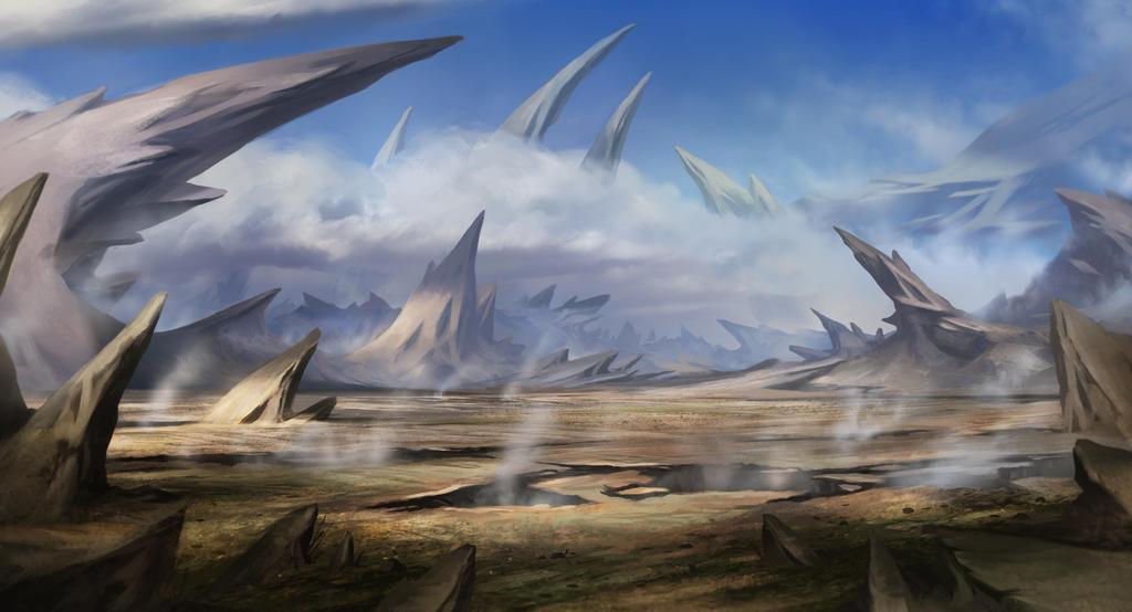 Spiky Valley by SebastianWagner