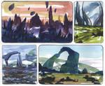 Watercolor Sketches 1