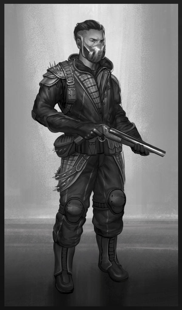 Outlaw - Character Concept by SebastianWagner