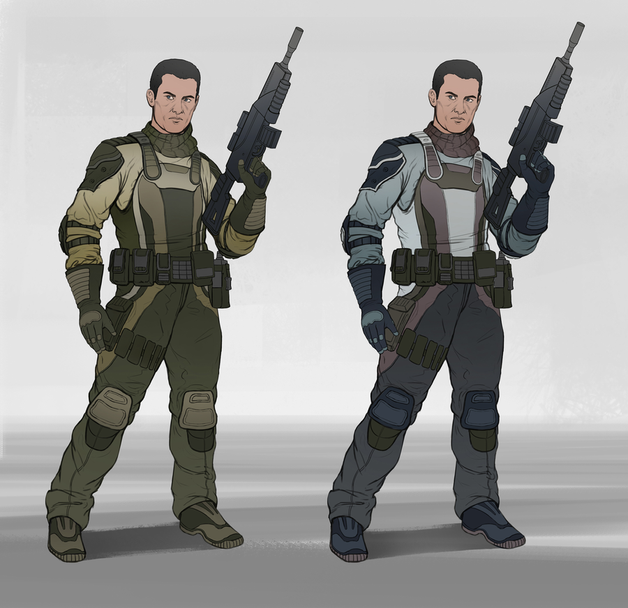 Gunman - Character Concept by SebastianWagner