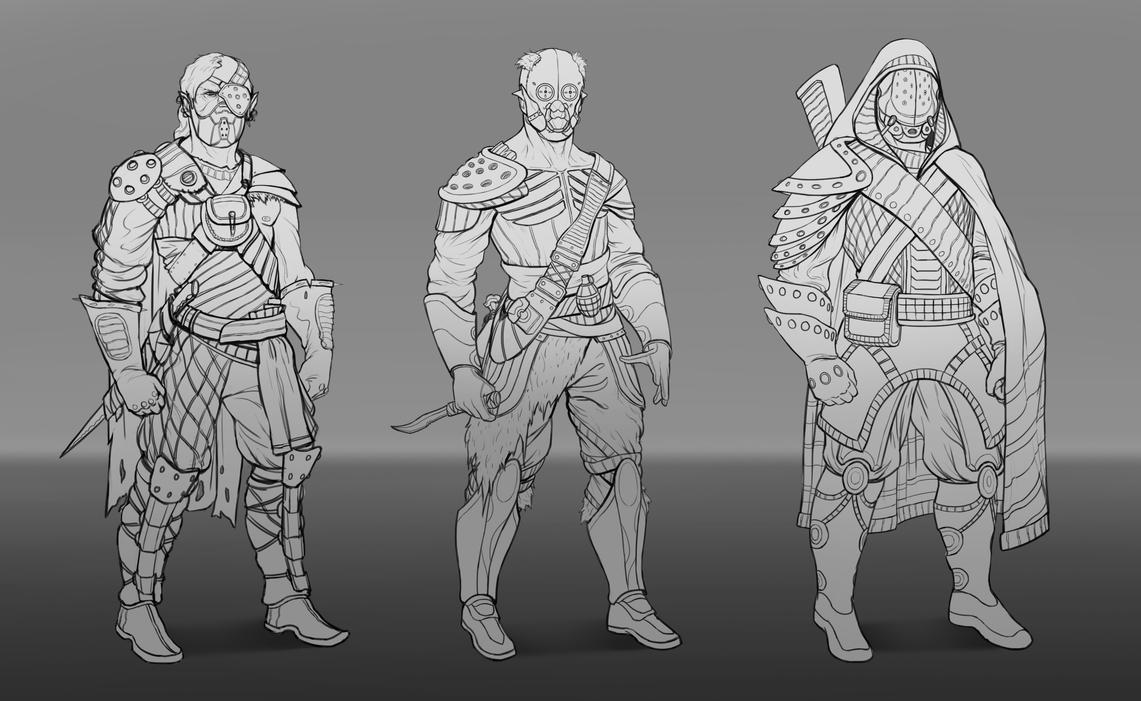 Character Sketches by SebastianWagner