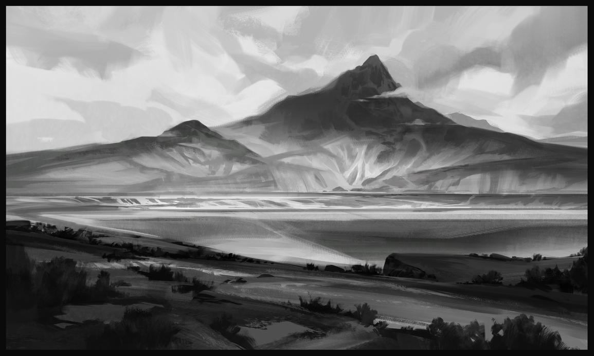 landscape sketch by SebastianWagner