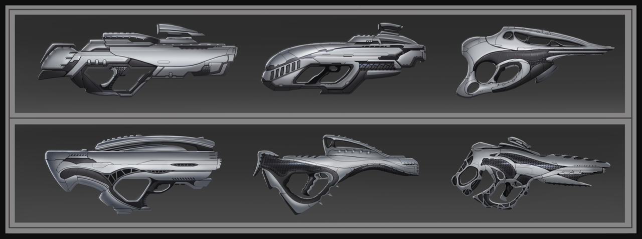 Sci-fi Rifles 2 by SebastianWagner