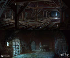 The Pillars of the Earth- Kingsbridge Roof / Crypt by SebastianWagner