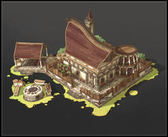 Wood Elves Lodge by SebastianWagner
