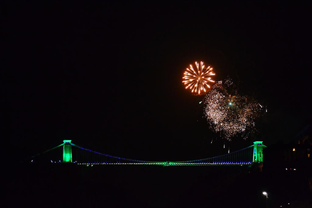 New Years Eve Fireworks, Clifton Suspension Bridge by sophhks