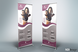 Gym Roll-Up Banner - v46 by asgroup