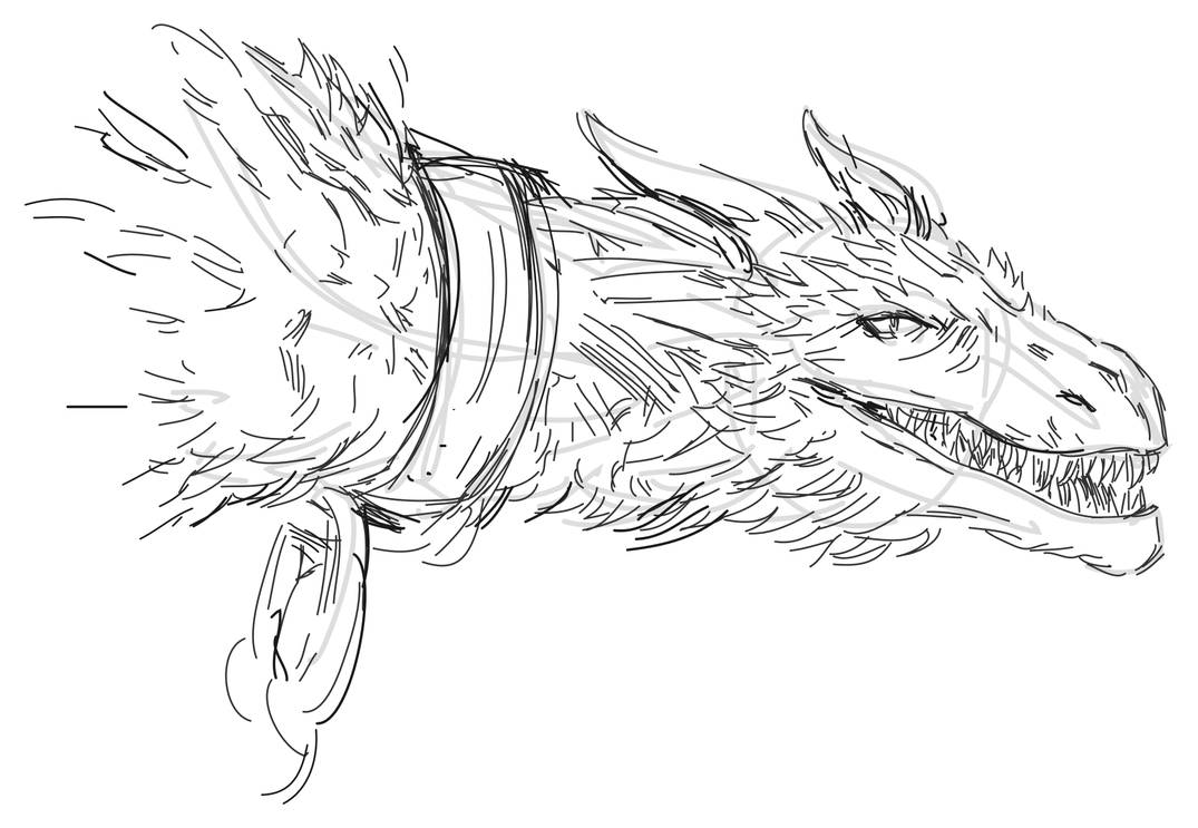 how to draw a game of thrones inspired dragon by