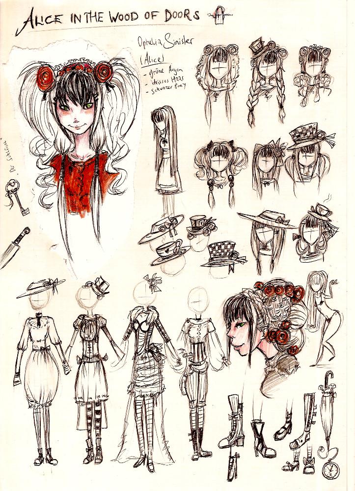 Alice - Ophelia OC Sketch by S0MAwalkingDEAD