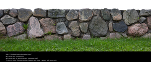 Stone fence by cindysart-stock