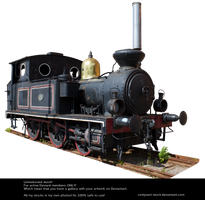 Old Locomotive By Cindysart-stock