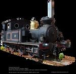 Old Locomotive By Cindysart-stock