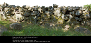 Stone Wall 2 By Cindysart-stock
