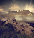 Premade Backround Fortress By Cindysart-stock