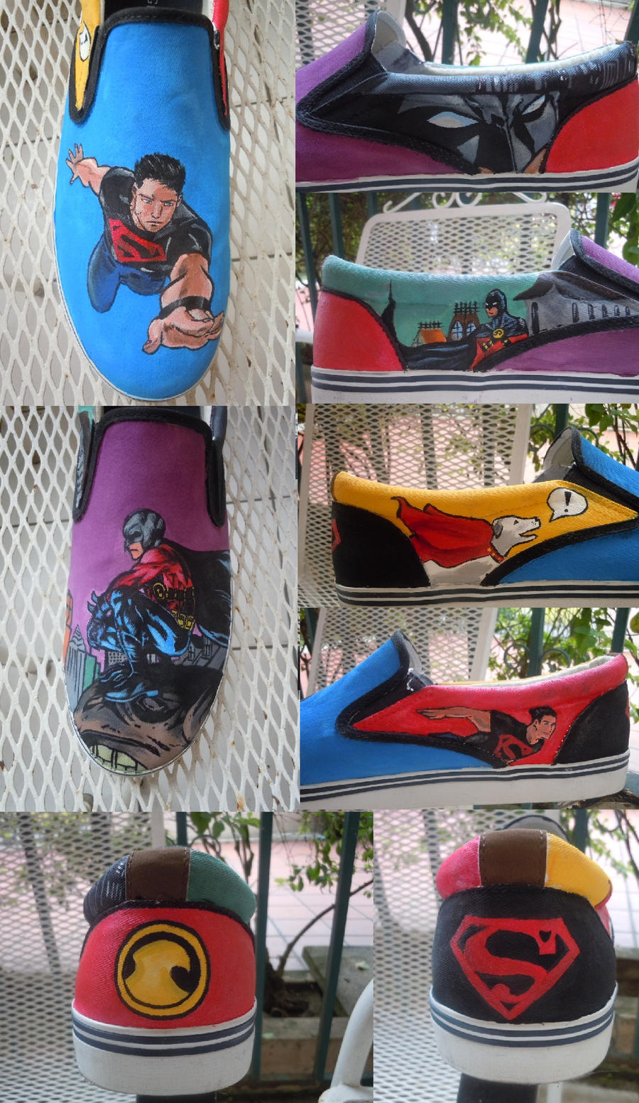 Superboy/Red Robin shoes by songbirdholly