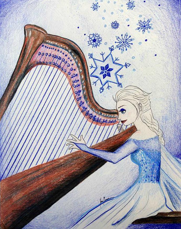 Disney Musicians - Elsa by songbirdholly
