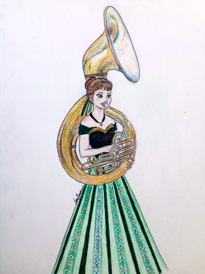 Disney musicians - Anna by songbirdholly