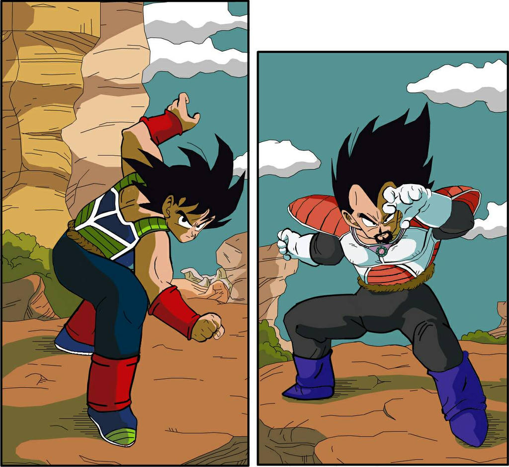 bardock vs king vegeta by nissimaharonov on DeviantArt