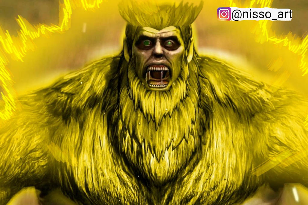 hairy titan ssj by nissimaharonov