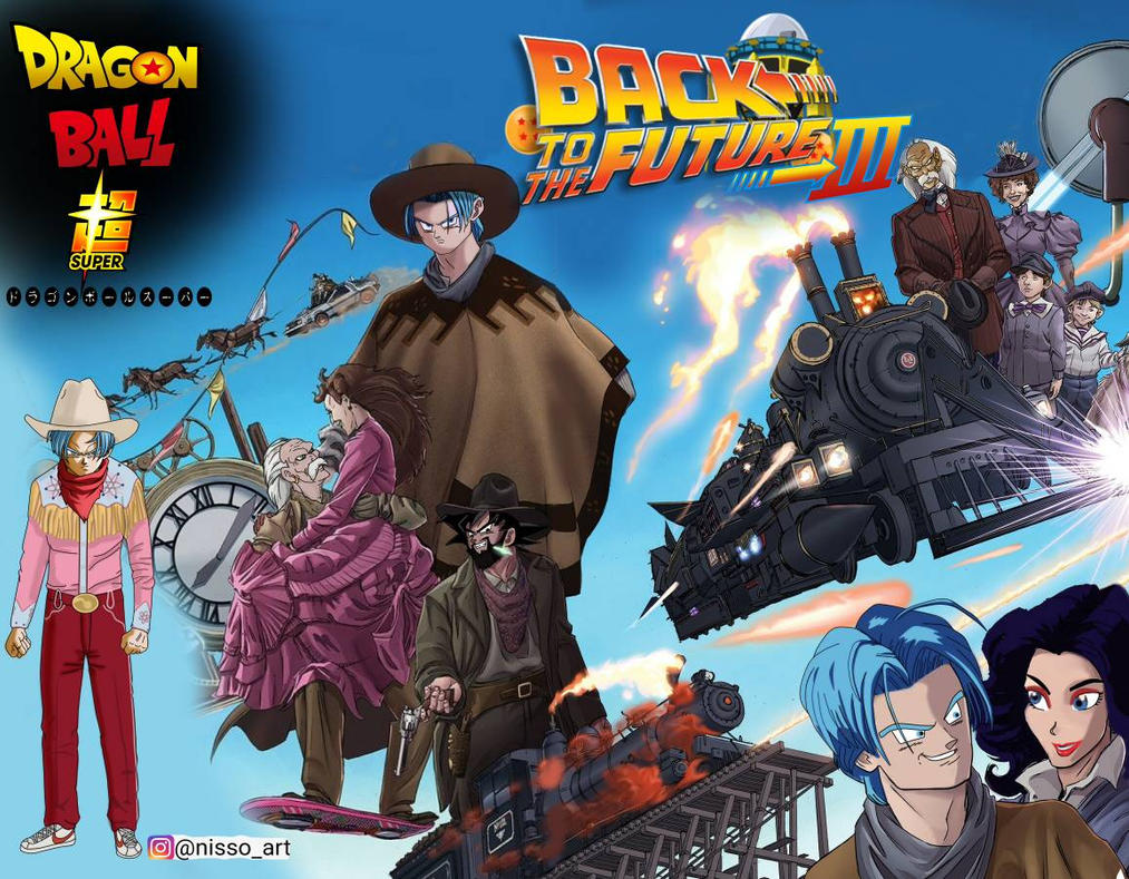 back to the future part 3 dbs style by nissimaharonov