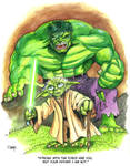 Hulk and Yoda Print