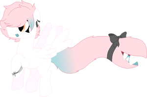 Mouse's Adopts|POINT|CLOSED|Pink and Blu Tailmouth by stitchedolive-adopt